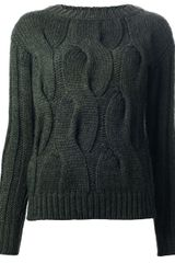 Moncler Grenoble Chunky Cable Knit Sweater - Lyst