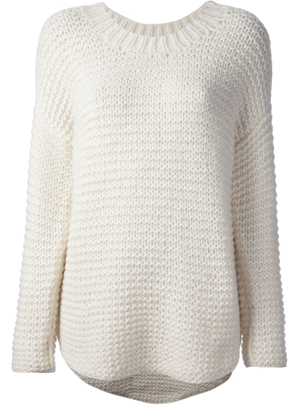 Paul & joe Rinaldi Chunky Knit Sweater in White | Lyst