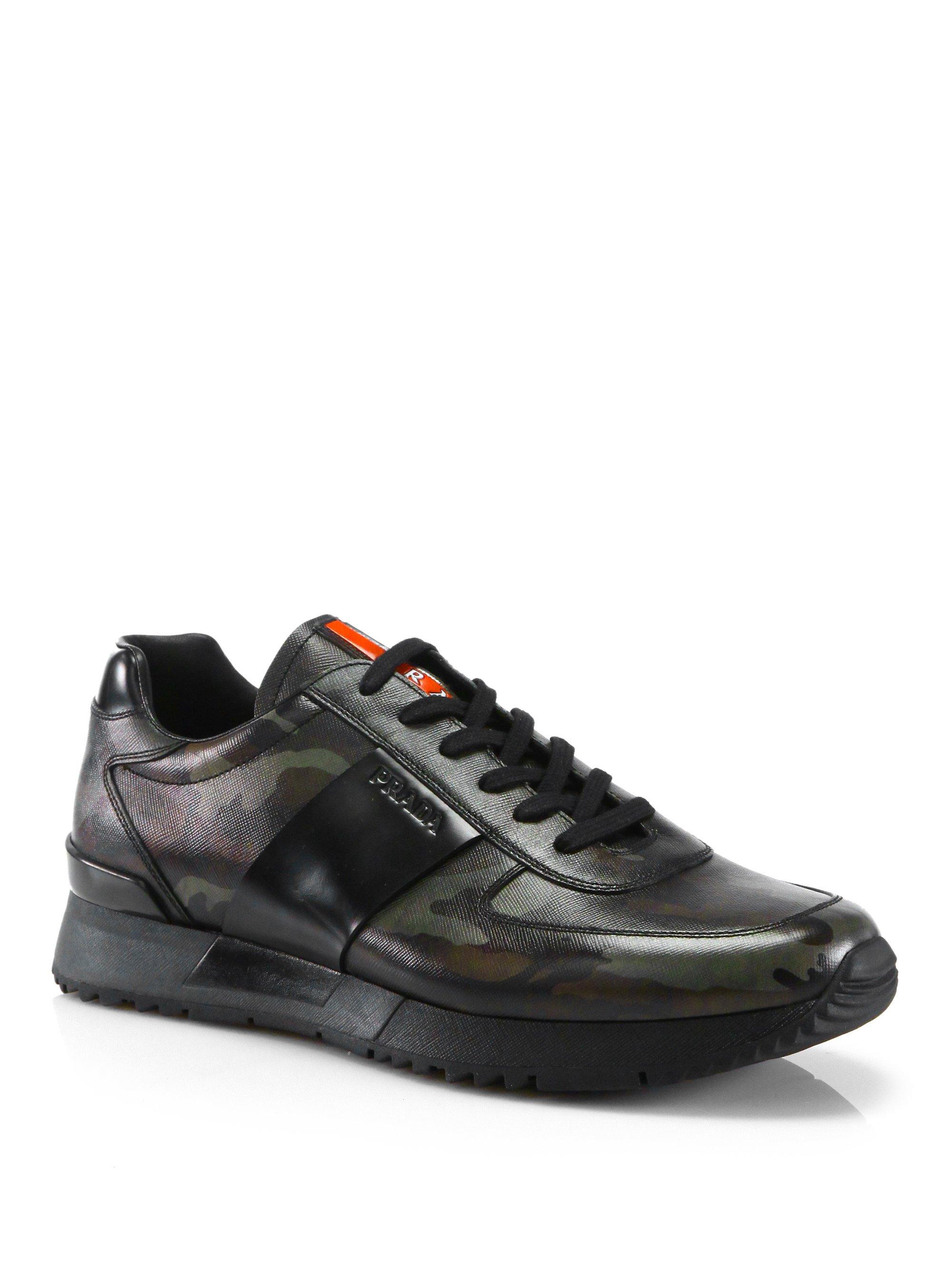 Mens Prada Camouflage Shoes