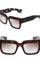 Prada Oversized Geometric Square Poem Sunglasses - Lyst