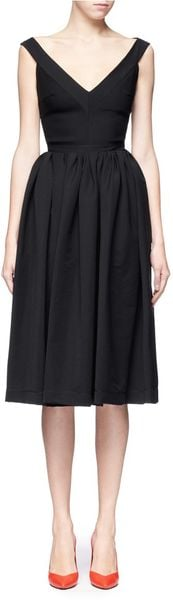 Preen Ted Satin Flo Dress - Lyst