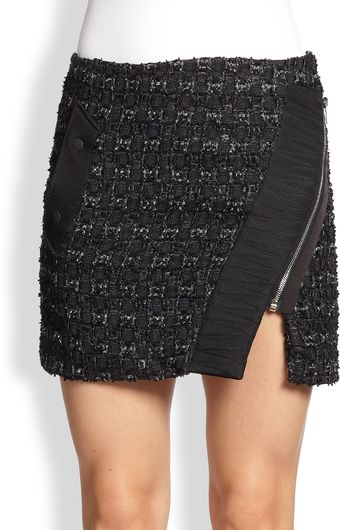 Rag & Bone Flight Boucle Wrap Skirt - Lyst