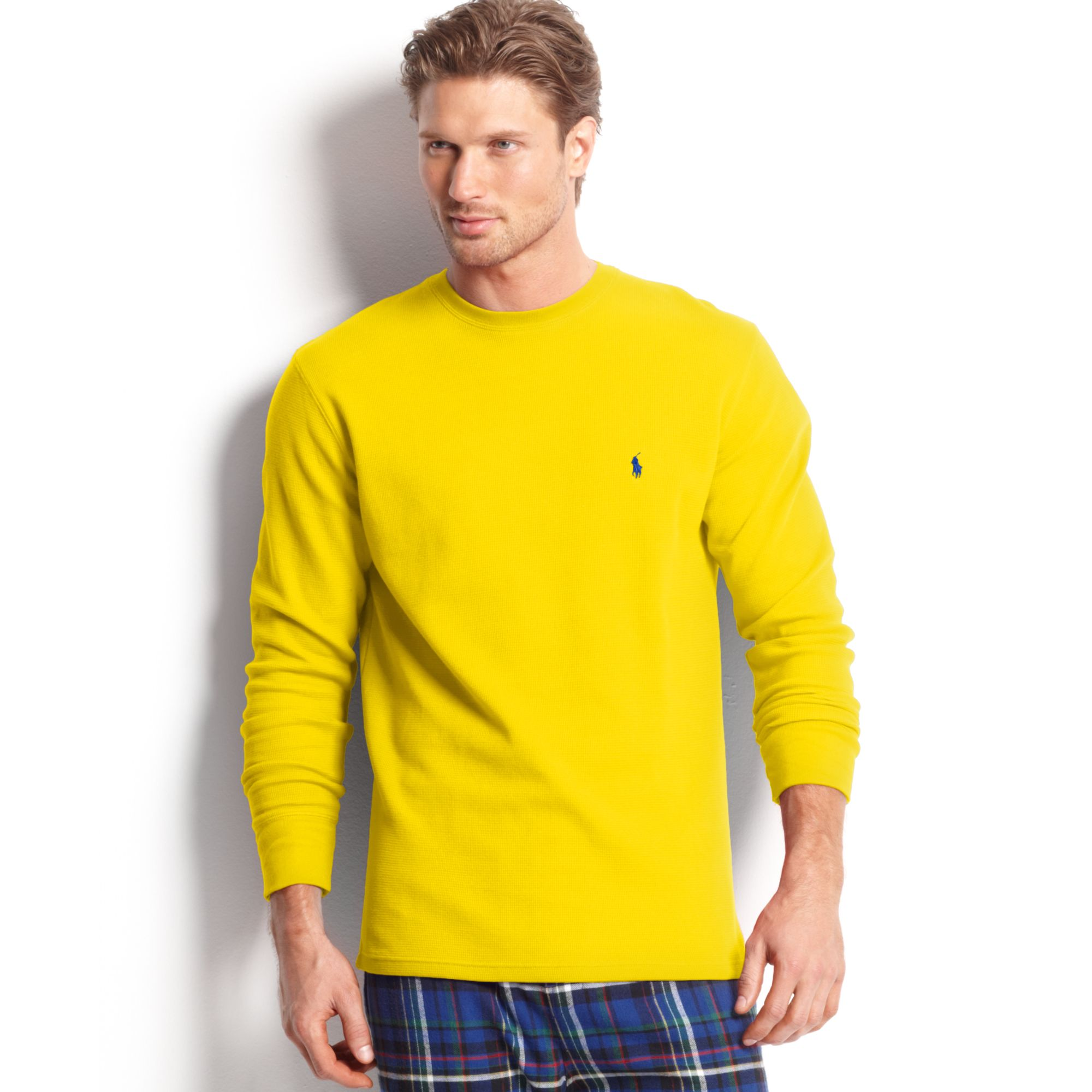 Lyst Ralph Lauren Long Sleeve Crew Neck Waffleknit