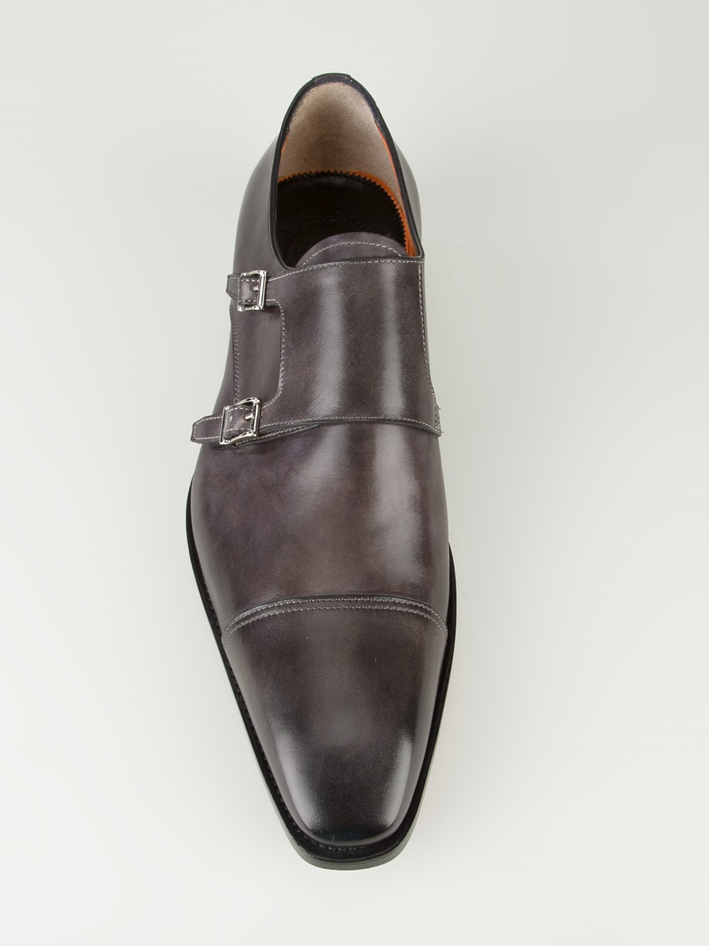 a88b6c7e2ca444 Santoni Double Monk Strap Loafer in Black for Men - Lyst