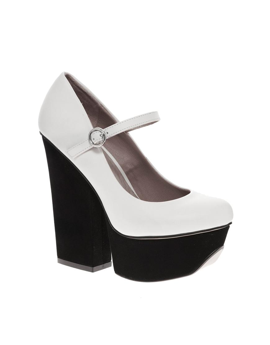 Shellys london kocek platform white mary jane shoes in white lyst
