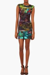 Topshop Fern Print Bodycon Dress - Lyst