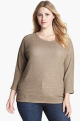 Two By Vince Camuto Open Stitch Sweater - Lyst