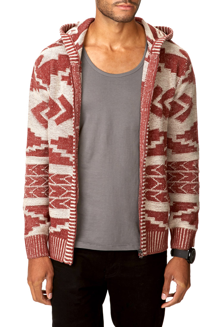 Forever 21 Southwestern Style Sweater in Red for Men | Lyst