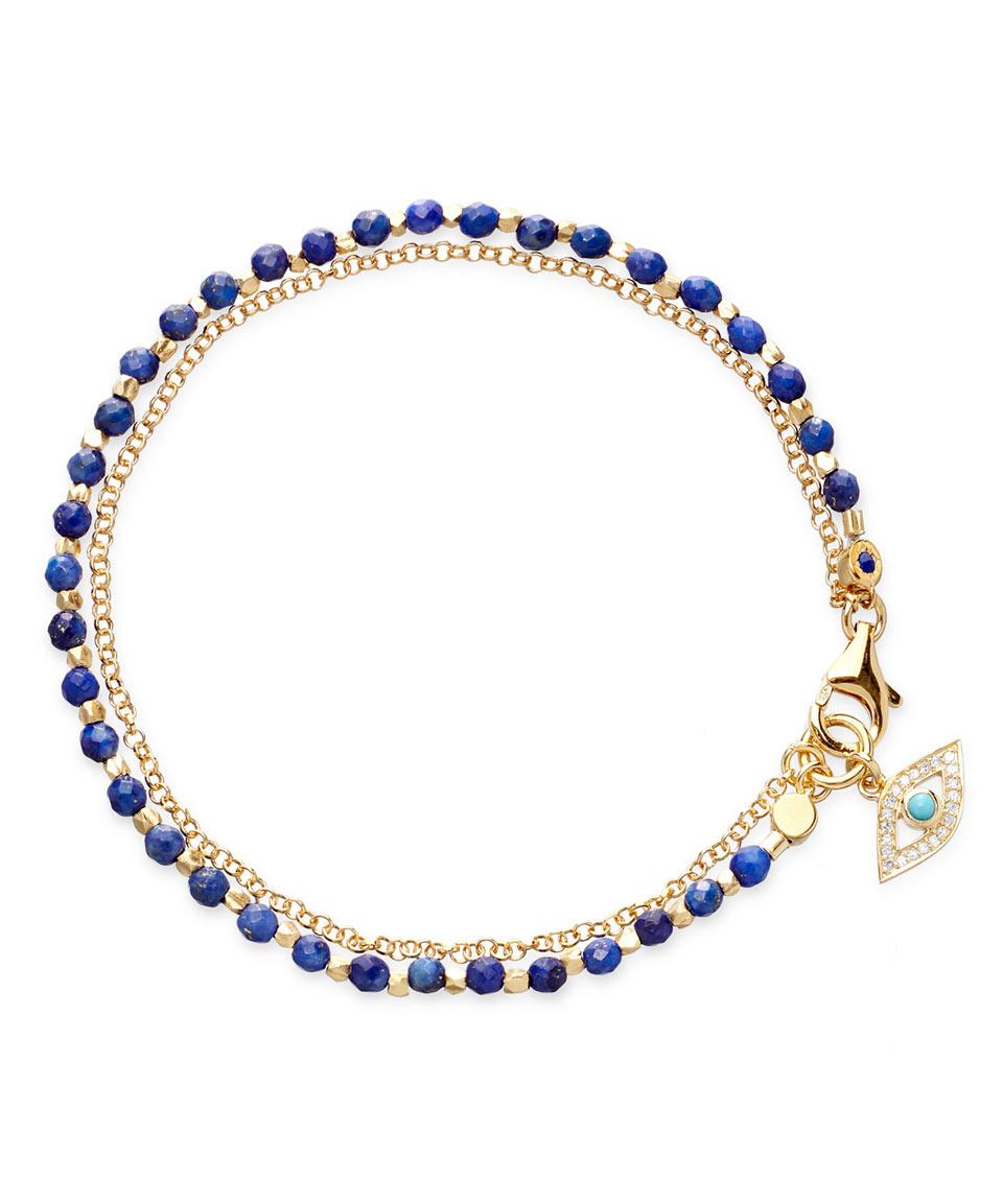 astley clarke gold evil eye friendship bracelet in gold lyst
