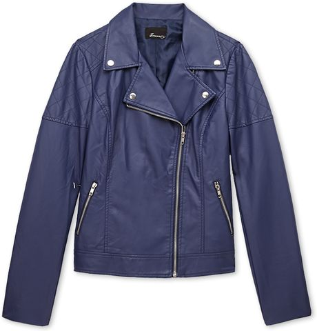 Forever 21 Streetchic Moto Jacket in Blue