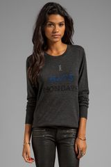Markus Lupfer Cross Stitch Sweater  - Lyst