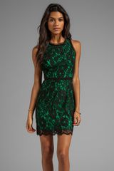 Milly Floral Scalloped Lace Claudia Dress in Green - Lyst