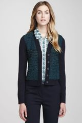 Tory Burch Lainey Textured Cropped Cardigan - Lyst