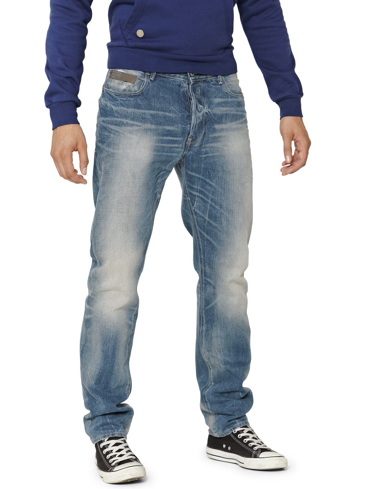 g star raw gstar raw mens blades tapered jeans in blue for. Black Bedroom Furniture Sets. Home Design Ideas