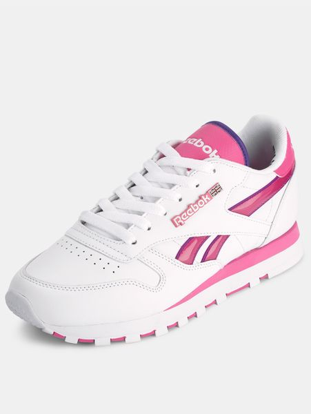 reebok reebok classic trainers in white white pink lyst. Black Bedroom Furniture Sets. Home Design Ideas