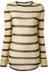 Balmain Striped Sweater - Lyst