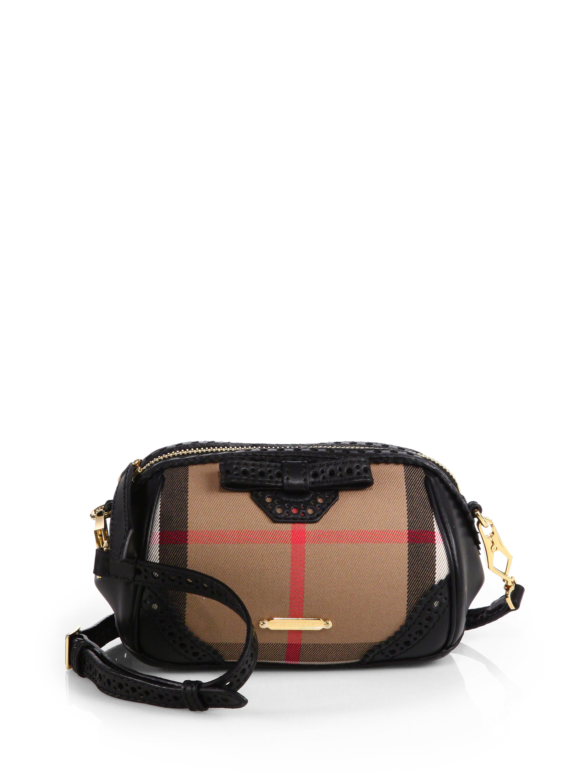 a842441c048d72 Burberry Blaze Haymarket Mixedmedia Crossbody Bag in Brown - Lyst