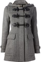 Burberry Brit Hooded Duffle Coat - Lyst