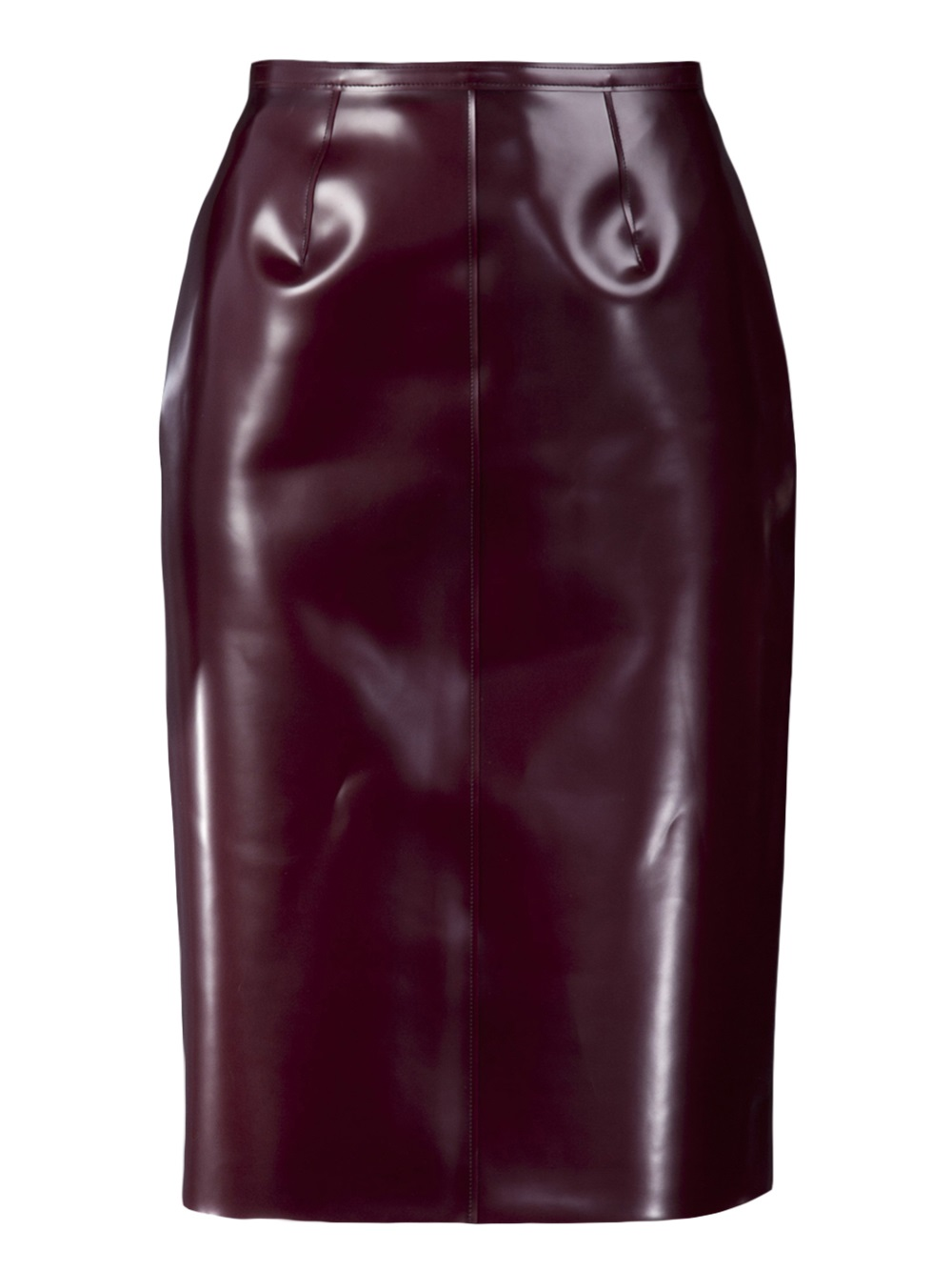 Burberry Prorsum Rubber Skirt In Red Lyst