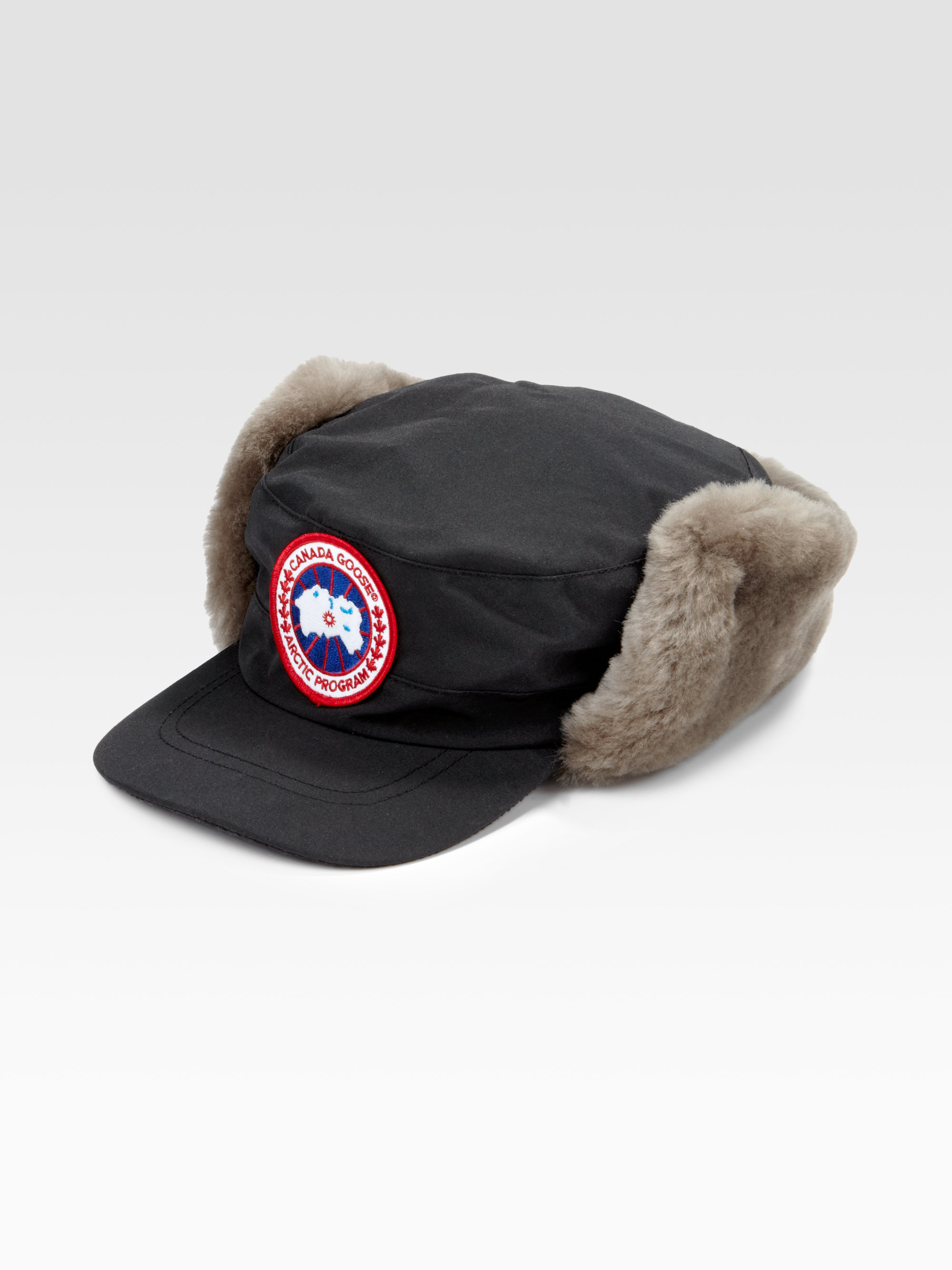 Lyst - Canada Goose Classique Shearling Hat in Brown for Men 1266d58b7e5