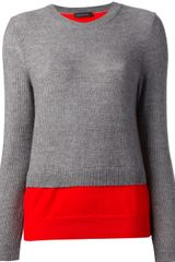 Cedric Charlier Double Layer Sweater - Lyst