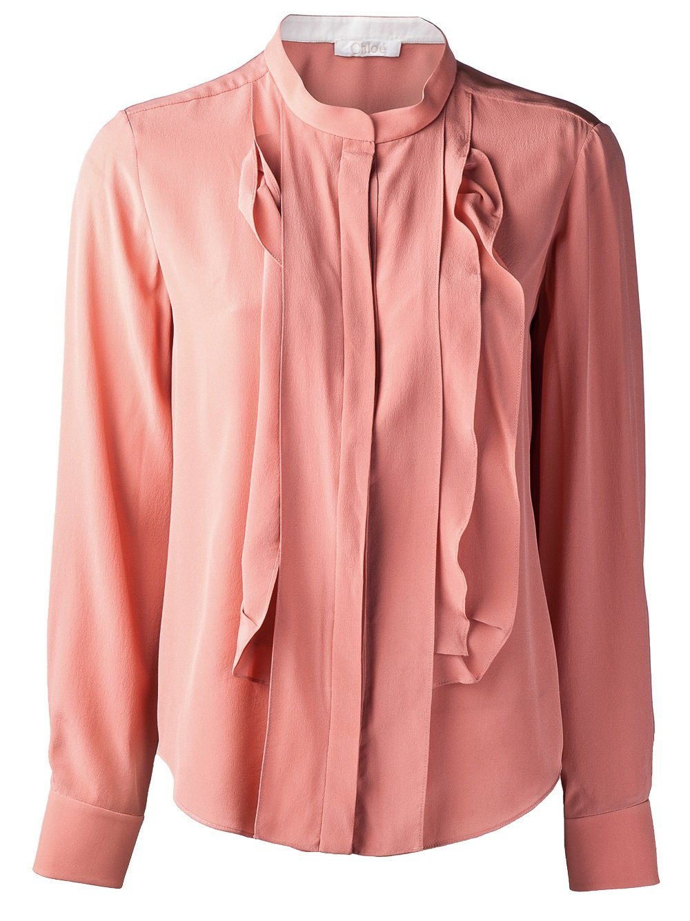 Stand Collar Blouse Designs Images : Chloé stand up collar blouse in pink purple lyst