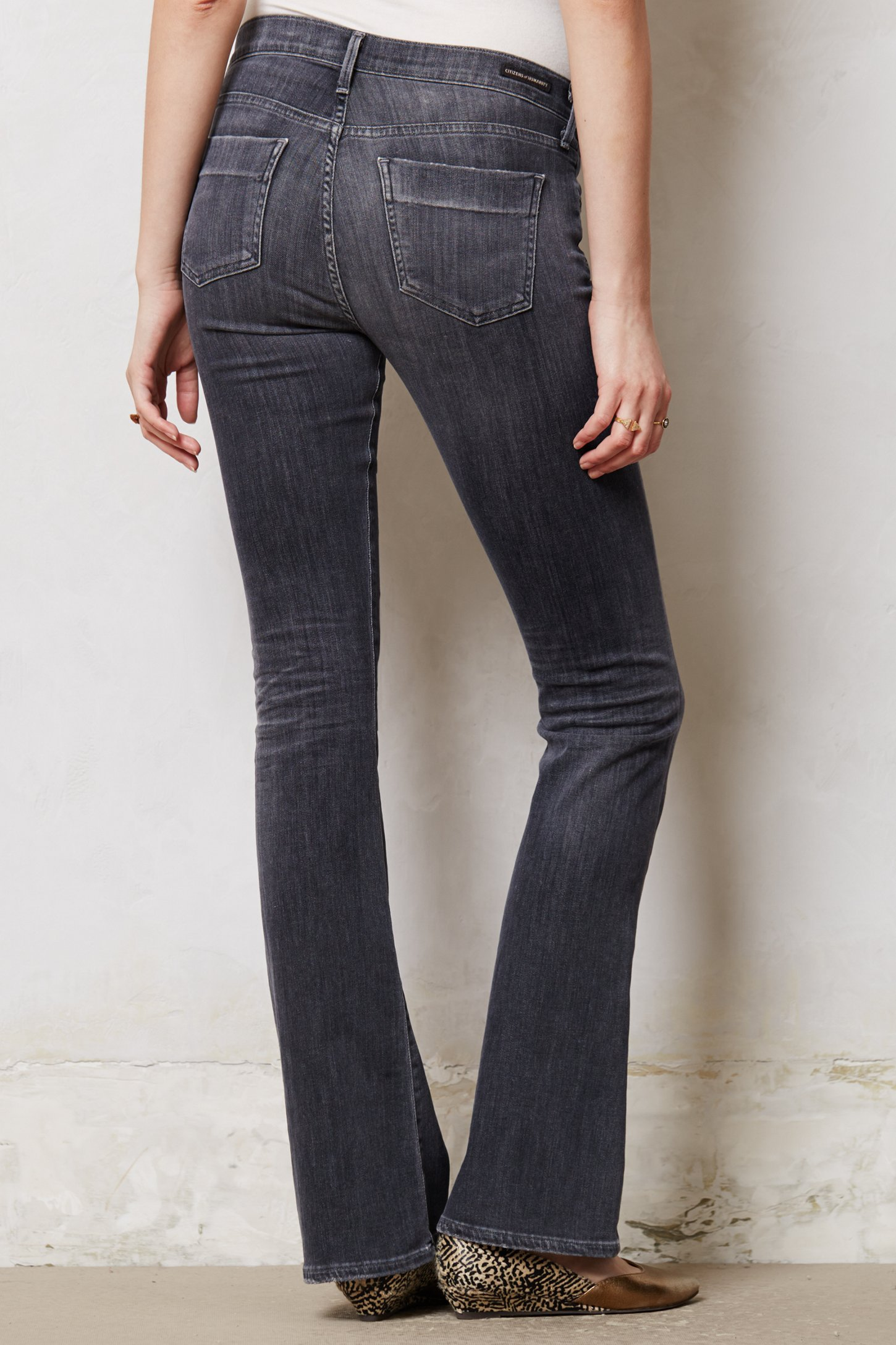 Citizens of humanity Emmanuelle Slim Bootcut Jeans in Gray | Lyst