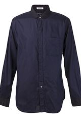 Engineered Garments Round Collar Button Down Shirt - Lyst