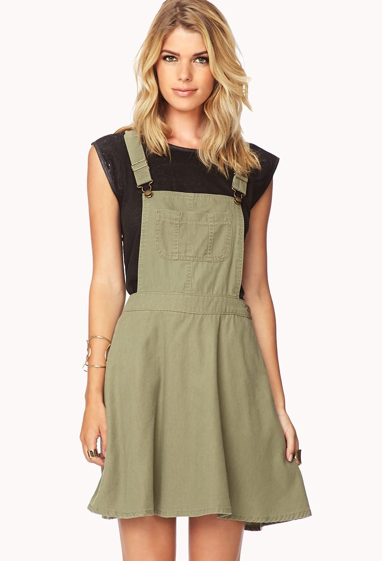 Forever 21 Contemporary Life In Progress Overall Dress In