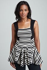 Free People Sedwick Striped Peplum Top - Lyst