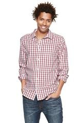Gap Noniron Wide Square Checkered Shirt - Lyst