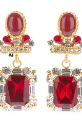 Gianfranco Ferre Vintage Drop Earrings - Lyst
