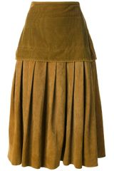 Gianni Versace Vintage Pleated Skirt - Lyst