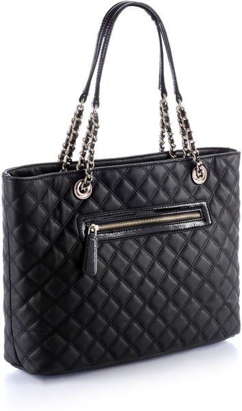 Guess Leidi Medium Classic Tote Bag In Black Lyst