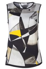 Helmut Lang Abstract Print Top - Lyst