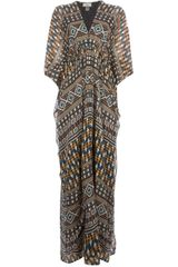 Issa Printed Kaftan Dress - Lyst