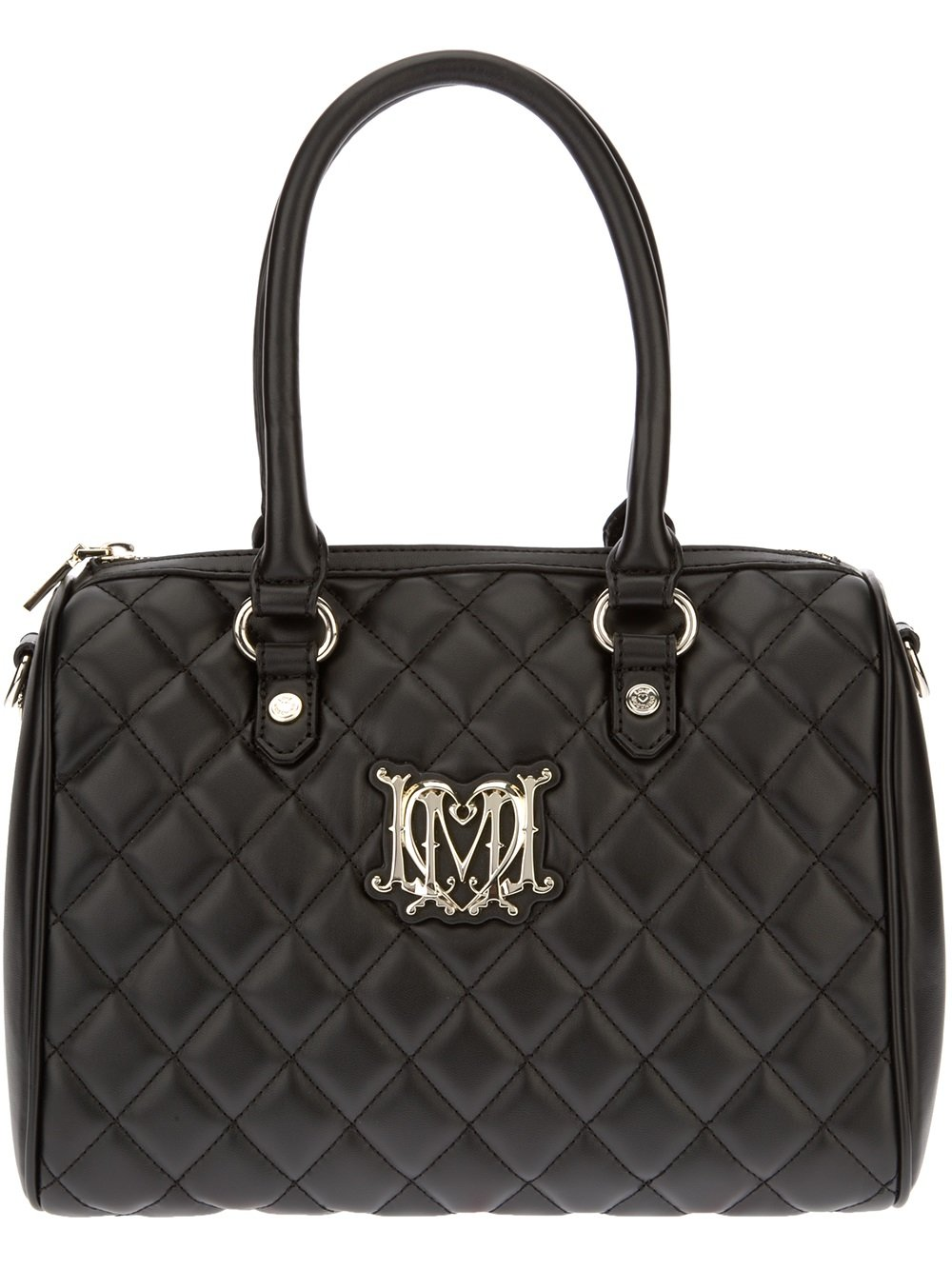love moschino small quilted tote in black lyst. Black Bedroom Furniture Sets. Home Design Ideas