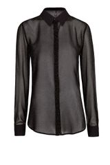 Mango Metallic Flowing Blouse - Lyst