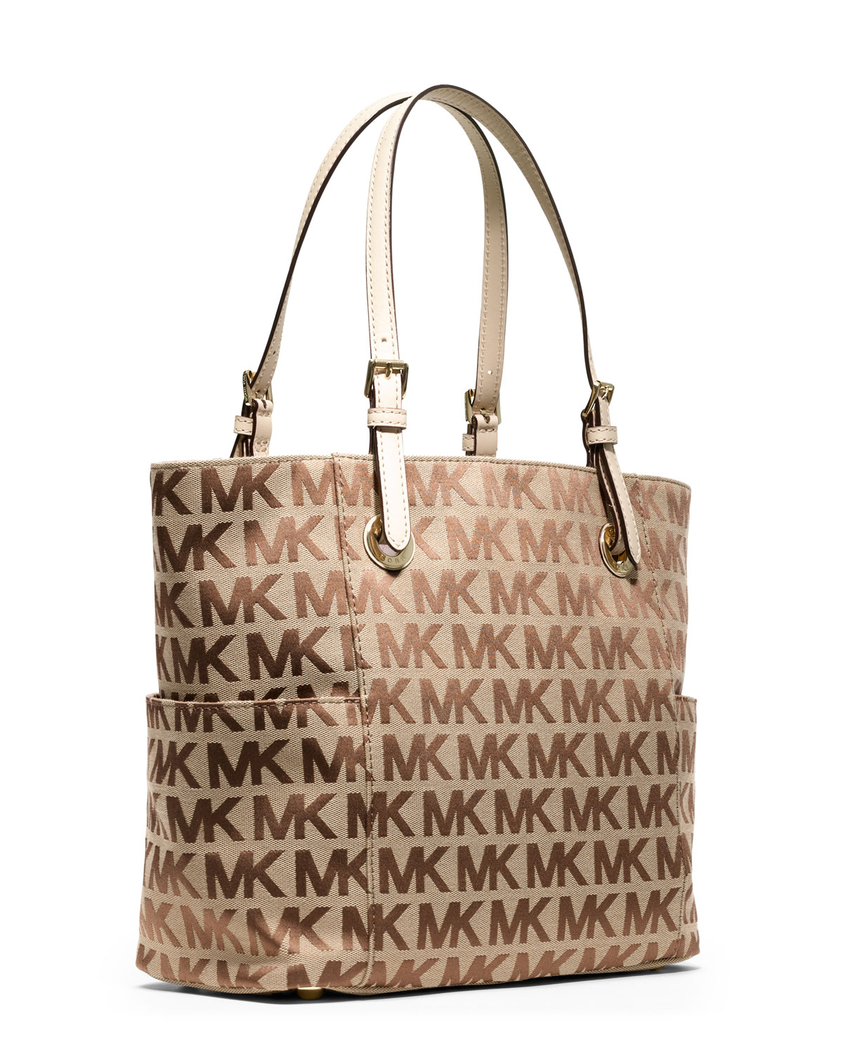 7ad31e5ac3c5 ... switzerland best lyst michael michael kors jet set signature logo tote  in brown 3c5cf f3248 12358