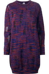 M Missoni Knitted Jumper Dress - Lyst