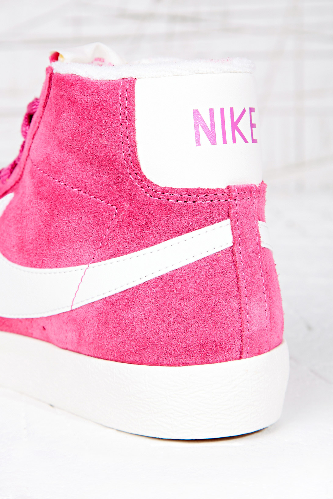 Nike Blazer Hitop Trainers in Pink in Pink - Lyst 1525f8b62