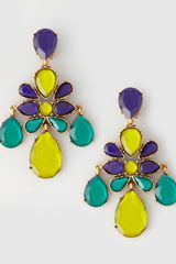 Oscar de la Renta Faceted Chandelier Clipon Earrings Mulberry - Lyst