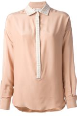 Paul & Joe Embroidered Collar Blouse - Lyst