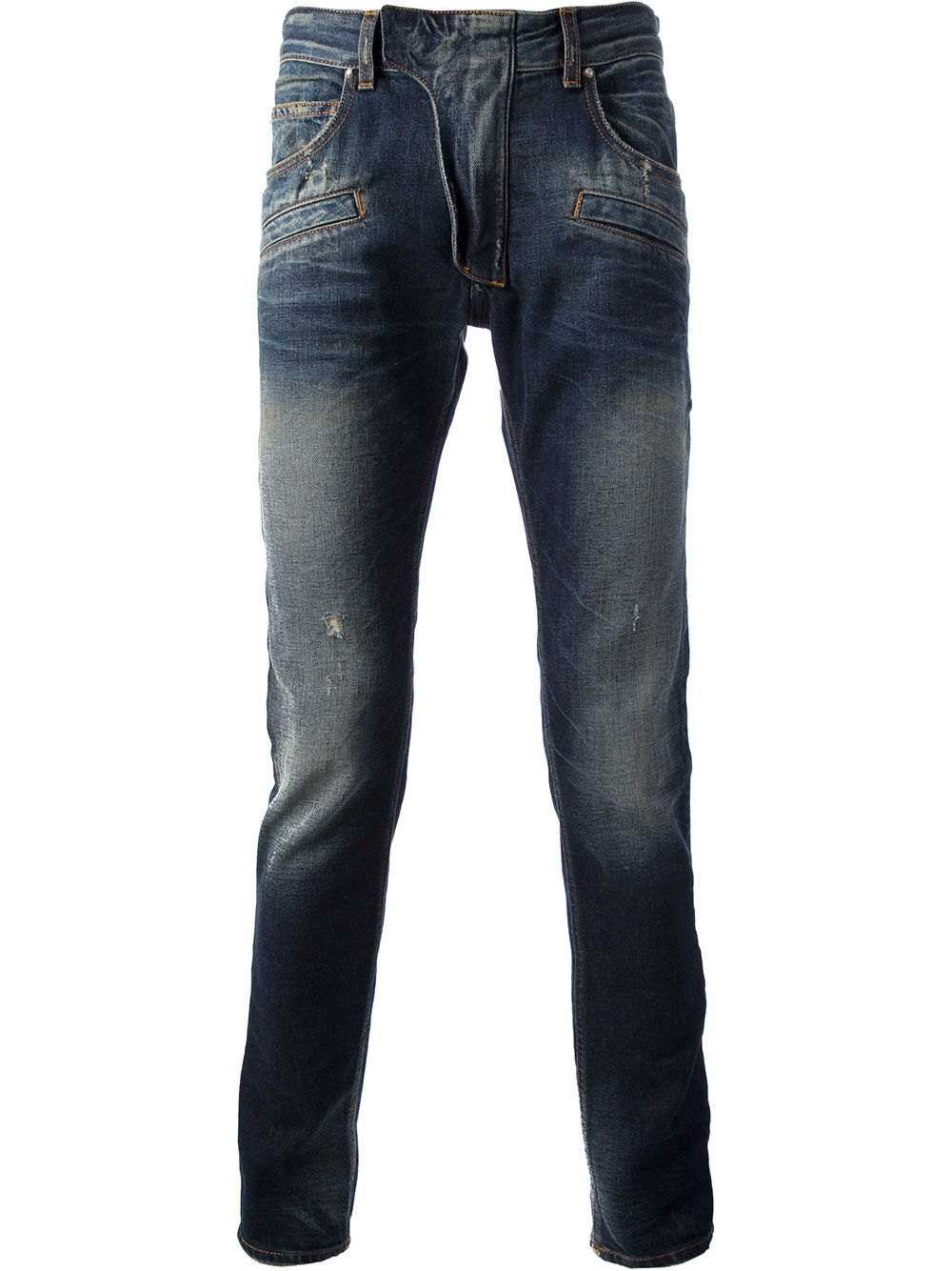 balmain super skinny jean in blue for men lyst. Black Bedroom Furniture Sets. Home Design Ideas