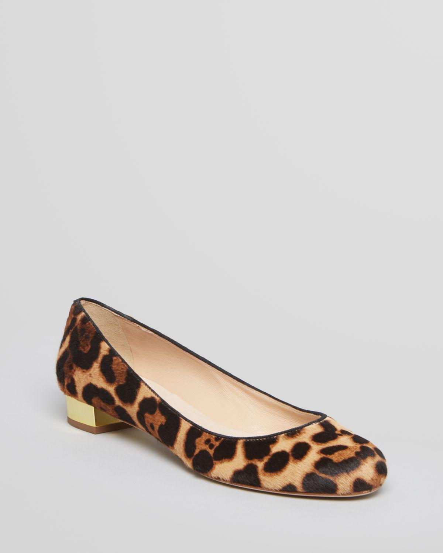 Steve Madden Animal Print Flats Shoes Black Bow Sz 8 5 P Toe