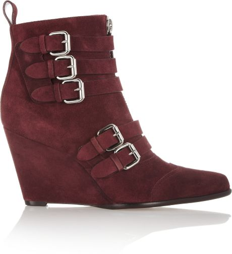 simmons harley suede wedge ankle boots in