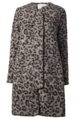 Thakoon Addition Leopard Print Coat - Lyst