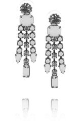 Tom Binns Carte Blanche Swarovski Crystal Drop Earrings - Lyst