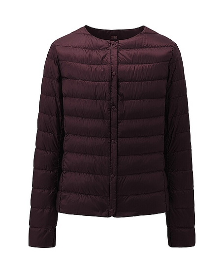 uniqlo ultra light down compact jacket in brown wine lyst. Black Bedroom Furniture Sets. Home Design Ideas