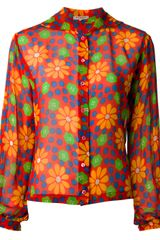 Yves Saint Laurent Vintage Silk Blouse - Lyst